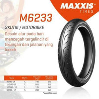 Ban Luar Maxxis 100/80-17 Extramaxx M6233W Tubeless Bonus Pentil Besi