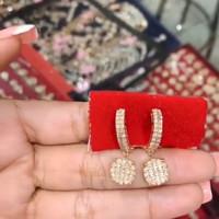 Berlian Medan ( Anting Ring baris 2 Bulat 5gr )