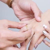 cincin nama couple lapis emas custom murah titanium asli anti karat