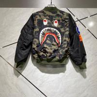 Bomber bape camo green wgm shark