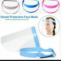 face shield pelindung wajah medis bisa naik turun updown - Biru