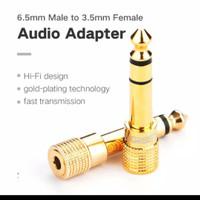 UGREEN adapter audio headphone 6.5mm 6.35mm ke jack 3.5mm to aux mic
