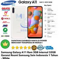 Samsung Galaxy A11 3GB/32GB 3/32gb A 11 3/32 Garansi-Resmi-Putih-White