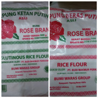 Tepung ketan putih tepung beras putih rose brand 500g