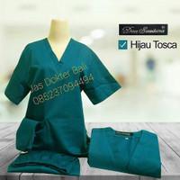 Baju Jaga lengan pendek Merk Dua Saudara warna hijau tosca