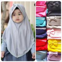 Jilbab Hijab Anak TK list Renda 4-8Th - Jilbab Hijab Instan