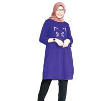 Baju Atasan Tunik Meong Cute, Dress Muslim Wanita