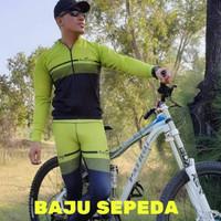 jersey sepeda dan baju sepeda pria dan wanita. , hijau
