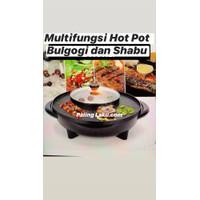 Multifungsi Hot pot grill/ bulgogi pan/ Grill & Shabu shabu