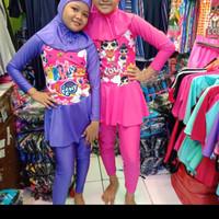 baju renang muslim anak cewe frozen/kitty//TK /kelas 1-2 ( 4-8 tahun)
