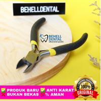 Tang Potong kawat behel Mini / pemotong Kawat Niti bracket Permanen