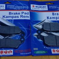 Paket Kampas Rem Depan Belakang Satria FU 150 Fi Satria New Satria FL