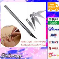 1set Hobby knife / art knife / art pen cutter plus refill 5pcs