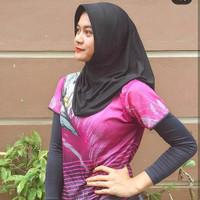 Hijab Sport Olahraga Hitam Polos