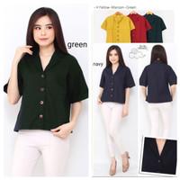 Blouse wanita lengan pendek Polos SA5A / Baju atasan wanita blouse