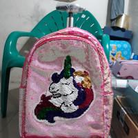 koper unicorn sequin/koper sekolah sd