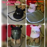 topi corona baby - topi dan pelindung muka baby - face shield baby