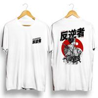 Kaos Putih Gambar Asian Rebel/ Baju Distro Pria Keren Grosir Murah