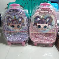 tas koper sequin/unicorn/LOL/koper sekolah tk