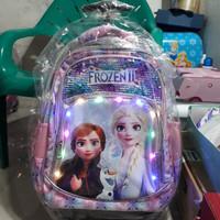 koper sequin frozen/sequin lampu/koper sekolah