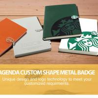 agenda memo planner custom clip metal magnet shape