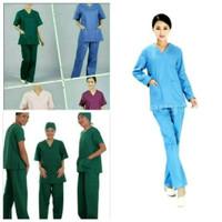 baju perawat dan jaga malam lengan panjang (unisex)