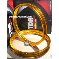 VELG TDR W SHAPE SET 17 X 160 & 185 GOLD RING 17 ORIGINAL TDR