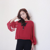Atasan Blouse Wanita Warna Merah