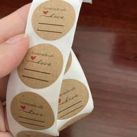 Stiker Label Craft Sticker Homemade Love Gift Bakery Custom Segel Seal