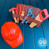 Mainan Anak Tukang Tukangan Bangunan / Kids Toys Builder Tool Set