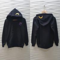 Jaket Jepang/Anime - Luna Cat Hoodie - Hitam, M