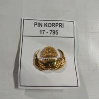 Pin korpri pns asn jatah pembagian bahan kuningan sepuh emas