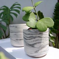 Pot Arma Marble D12,pot concrete handmade
