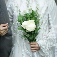 Sewa Baju Wedding Pernikahan Pengantin Wanita Baju Kurung Set Modern