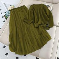 baju setelan rok terbaru 2in1/set wanita/set atas bawah/set goodqualiy