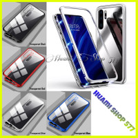 Luxury Magnetic Huawei P20 / P30 / Lite / Pro Tempered Glass Hard Case