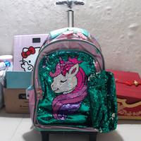 koper unicorn sequin/tas sequin unicorn/tas anak cewe sd