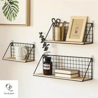 GUNINCO Rak Dinding Besi Serbaguna / Rak Display Dekorasi