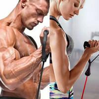 Tali Pull Up Latihan Kekuatan Otot Gym Fitness Resistance Band Elastis