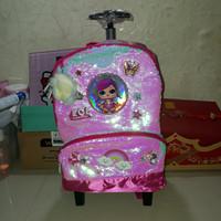koper sequin lol / tas sequin lol anak/tas sekolah sd