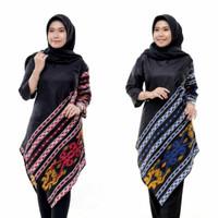 TUNIK SONGKET LANCIP M-XXL ATASAN MUSLIM BATIK WANITA DRESS BLOUSE