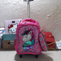 koper sequin unicorn/tas sequin unicorn/tas anak cewe sd