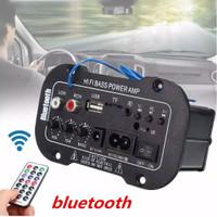 Amplifier Stereo Digital HiFi Bass Power dengan Bluetooth+Port USB/TF
