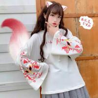 Jaket Jepang/Anime - Anbu Mask Hoodie - Putih, M