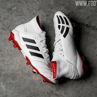 Adidas Predator Mania 19.1 FG White Core Black Red I Sepatu Bola
