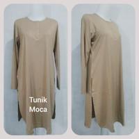 Tunik kancing baju atasan Astracollection spandex rayon super muslim - Kubus, Jumbo LL XL