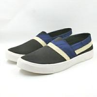 Sepatu Pria Slip on sepatu santai bukan vans bukan wakai 5202 - Hitam Biru, 39