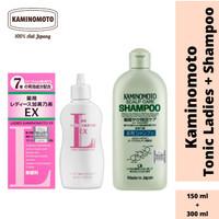BUNDLING Kaminomoto Hair Tonic Pink & Shampoo