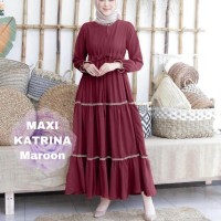 Baju Gamis Maxi Muslim List Katrina Wanita