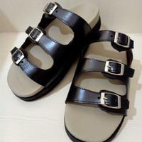 Sandal flatfoot custom grey black